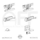 Eclettica K.120.3.4.C - Sliding Door Fitting Set - Components