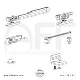 Eclettica K.120.1.4.C - Sliding Door Fitting Set - Components