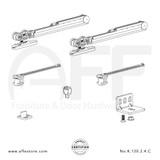 Eclettica K.120.2.4.C - Sliding Door Fitting Set - Components