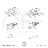 Eclettica K.080.4.4.S - Sliding Door Fitting Set - Components