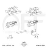 Eclettica K.080.4.4.C - Sliding Door Fitting Set - Components
