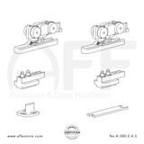 Eclettica K.080.0.4.S - Sliding Door Fitting Set - Components