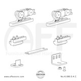 Eclettica K.080.0.4.C - Sliding Door Fitting Set - Components