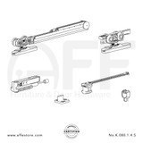 Eclettica K.080.1.4.S - Sliding Door Fitting Set - Components