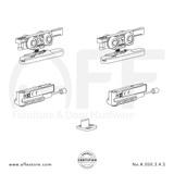 Eclettica K.050.3.4.S - Sliding Door Fitting Set - Components