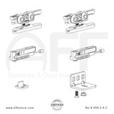 Eclettica K.050.3.4.C- Sliding Door Fitting Set - Components