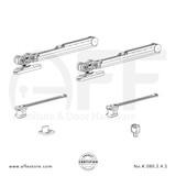 Eclettica K.080.2.4.S - Sliding Door Fitting Set - Components