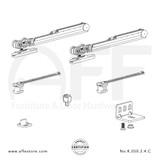 Eclettica K.050.2.4.C- Sliding Door Fitting Set - Components