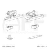 Eclettica K.030.0.4.S - Sliding Door Fitting Set - Components