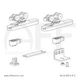 Eclettica K.030.0.4.C - Sliding Door Fitting Set - Components