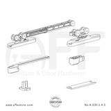 Eclettica K.030.5.4.S - Sliding Door Fitting Set - Components