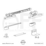 Eclettica K.030.5.4.C - Sliding Door Fitting Set - Components