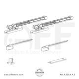 Eclettica K.030.6.4.S - Sliding Door Fitting Set - Components