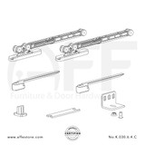 Eclettica K.030.6.4.C - Sliding Door Fitting Set - Components