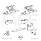STEP No. K.030.0.2.C Sliding Door Fitting Set - Components