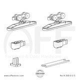 STEP No. K.030.0.2.S Sliding Door Fitting Set - Components