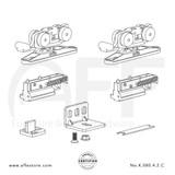 STEP No. K.080.4.2.C Sliding Door Marine Grade Fitting Set - Components