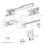STEP No. K.0120.1.2.C Sliding Door Fitting Set - Components