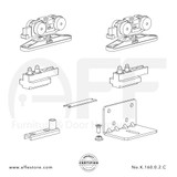 STEP No. K.160.0.2.C Sliding Door Fitting Set - Components