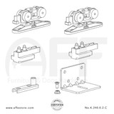 STEP  K.240.0.2.C - Sliding Door Fitting Set - Components