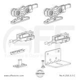 STEP  K.250.3.2.C - Sliding Door Fitting Set - Components