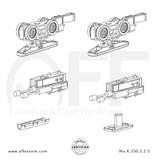 STEP  K.250.3.2.S - Sliding Door Fitting Set - Components
