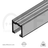 Sliding track No. 8000.01160, 8010.01160, for max. door  weight up to 352Lbs/160Kg