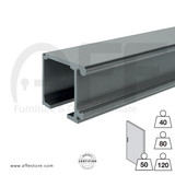 Wall Mounted Sliding track No. 8000.01700,  8010.01700 for max. door  weight from 88Lbs.(40Kg) up to 254Lbs (120Kg)