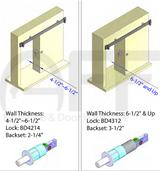 Barn Door Privacy Lock with Square Rosette EC1314
