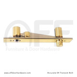 Accurate No. 04 Transom Bolt for Double Doors - In Brass
