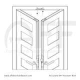 Accurate No. 04 Transom Bolt for Double Doors