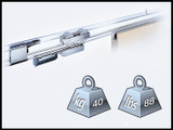 Fitting Set For Sliding Door Up To 88 lbs / 40 kg