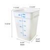 22 Qt. White Square Polycarbonate Food Storage Container w/ Color Gradations (PLSFT022PP)