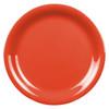 "9"" Narrow Rim Melamine Orange Plate (CR109RD)"