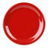 """9"""" Narrow Rim Melamine Pure Red Plate (CR109PR)"""