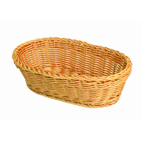 Thunder Group PLBB1107 Plastic Oval Hand-Woven Basket