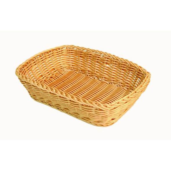 Thunder Group PLBB1209 Plastic Rectangular Hand-Woven Basket