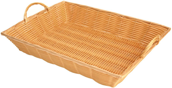 """17"""" x 13"""" x 3"""" Rectangular Woven Basket w/ Handles"""