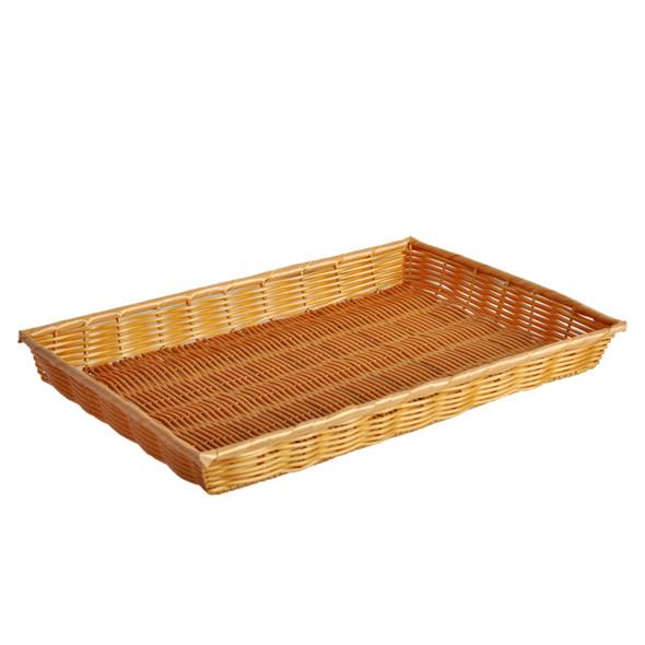 """18"""" x 13"""" x 2"""" Rectangular Woven Basket (PLBN1813T)"""