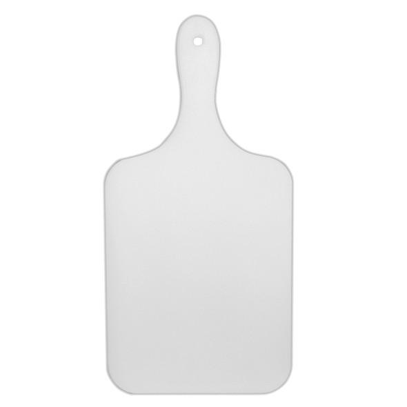 Polyethylene White Serve Cut Boards w/ Handle (PLCB007)