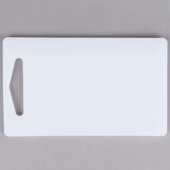 """6"""" x 10"""" x 3/8"""" White Polyethylene Cutting Board"""