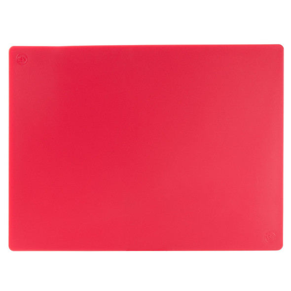 Color Coded Polyethylene Cutting Boards - Red
