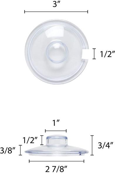 7 oz Plastic Condiment Jar Replacement Lid (PLCJ007C)