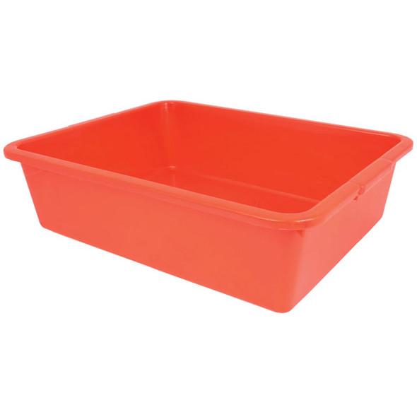 Durable Polyethylene Plastic Bus Tub - RED