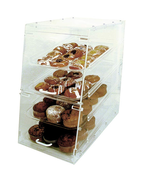 4-Tray Acrylic Pastry Display Case