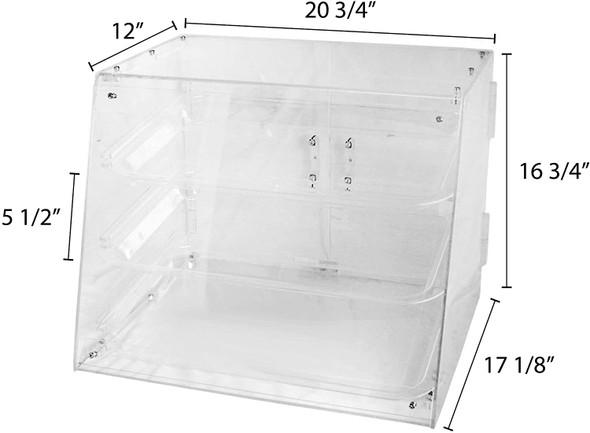3-Tray Acrylic Pastry Display Case