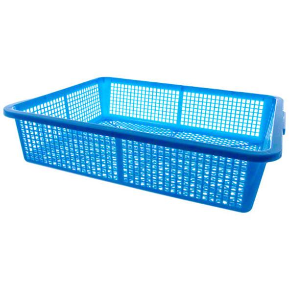 Durable Polyethylene Colander Basket - Blue