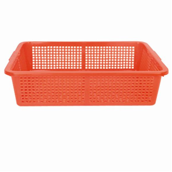 Durable Polyethylene Colander Basket - Red