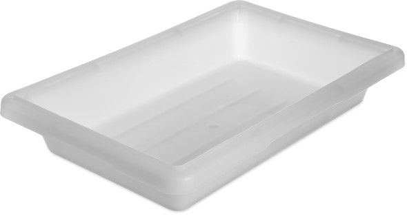 "12"" X 18"" X 3 1/2"", 1.75 GAL. FOOD STORAGE BOX, PP, White"