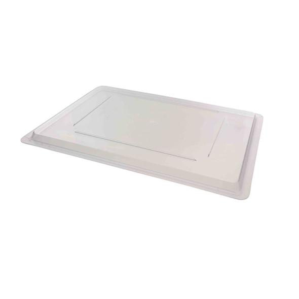 "18"" x 26"" Clear Polycarbonate Food Storage Box Lid"